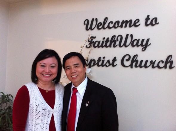 Bui Thanh Toan牧師とPhan Thi Kim Phuc