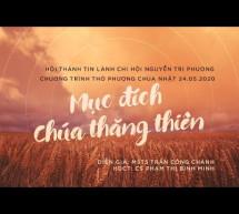 Chúa Nhật 24/5/2020: Hội Thánh Nguyễn Tri Phương