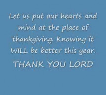 Thank You Lord For One More Year