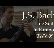 Johann Sebastian Bach: Suite BWV 996 E Minor – Guitar