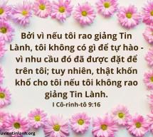 Lời Chúa Mỗi Ngày: I Cô-rinh-tô 9:16