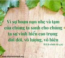 Lời Chúa Mỗi Ngày: II Cô-rinh-tô 4:17