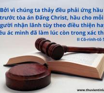 Lời Chúa Mỗi Ngày: II Cô-rinh-tô 5:10