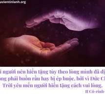 Lời Chúa Mỗi Ngày: II Cô-rinh-tô 9:7