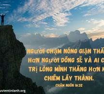 Lời Chúa Mỗi Ngày: Châm Ngôn 16:32
