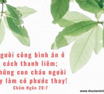 Lời Chúa Mỗi Ngày: Châm Ngôn 20:7