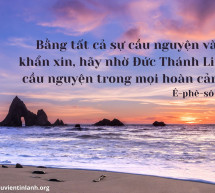 Lời Chúa Mỗi Ngày: Ê-phê-sô 6:18