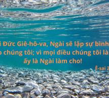 Lời Chúa Mỗi Ngày: Ê-sai 26:12