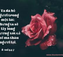 Lời Chúa Mỗi Ngày: Ê-sai 54:7