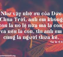 Lời Chúa Mỗi Ngày: Ga-la-ti 4:7