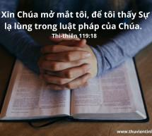 Lời Chúa Mỗi Ngày: Thi Thiên 119:18