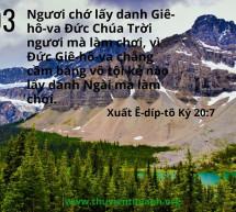 Lời Chúa Mỗi Ngày: Xuất Ê-díp-tô Ký 20:7
