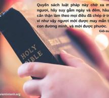 Lời Chúa Mỗi Ngày: Giô-suê 1:8