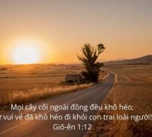 Lời Chúa Mỗi Ngày: Giô-ên 1:12